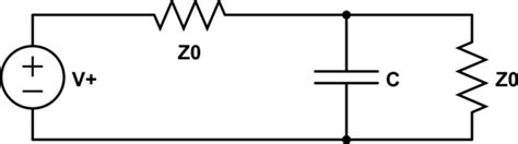 impedance of a shunt capacitor impedance shunt capacitor as discontinuity in transmission line electrical engineering stack
