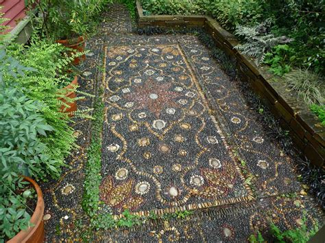 jeffrey bale s world of gardens pebble mosaic for the garden