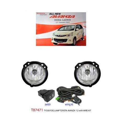 Switch Fog L Avanza buy toyota avanza 2012 2015 trio bright oem fog l spot light with bulb wirring