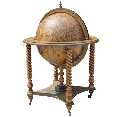 mid century modern world globe bar circa 1960s at
