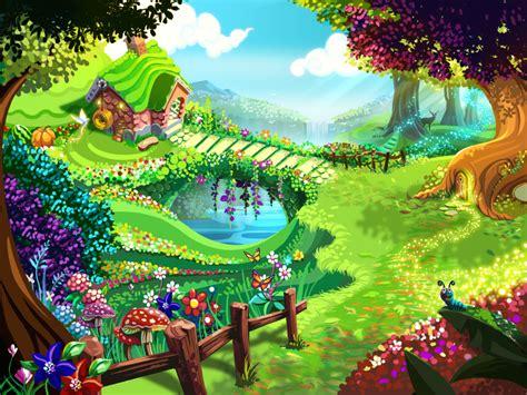 wallpaper garden cartoon free graphics cartoon farmers garden fairy garden by