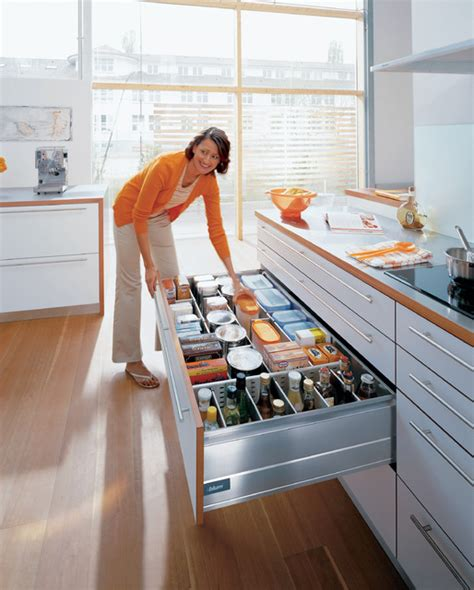 Top 10 Kitchen Designs by Blum Kitchen Accessories Storage Drawer Contemporary