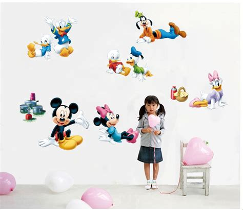 mickey mouse donald duck wall stickers mickey mouse home