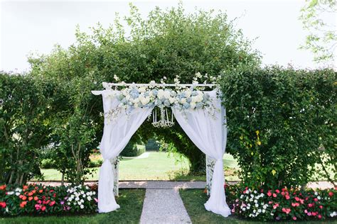 Wedding Arch Way by Dreamy Wedding Arch With Blue And White Flowers