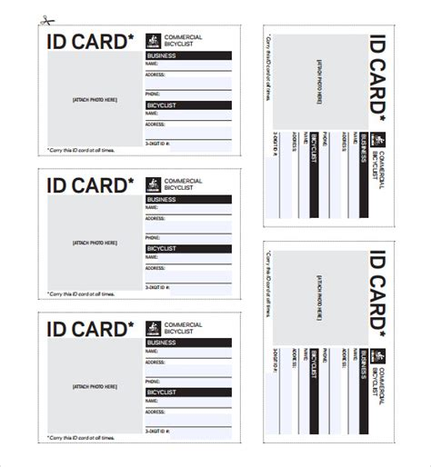 id card templates free id badges printable images