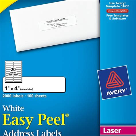 avery label template 5161 avery 174 easy peel 174 white address labels 5161 avery