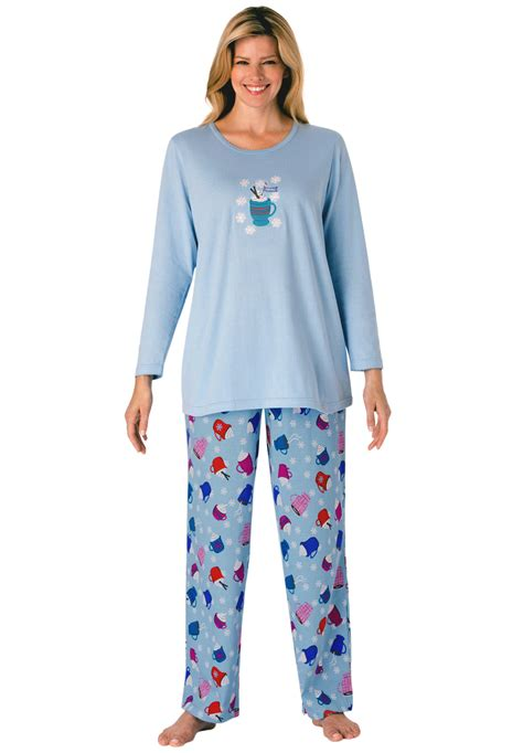 knit pajama winter print knit 100 cotton pajama for
