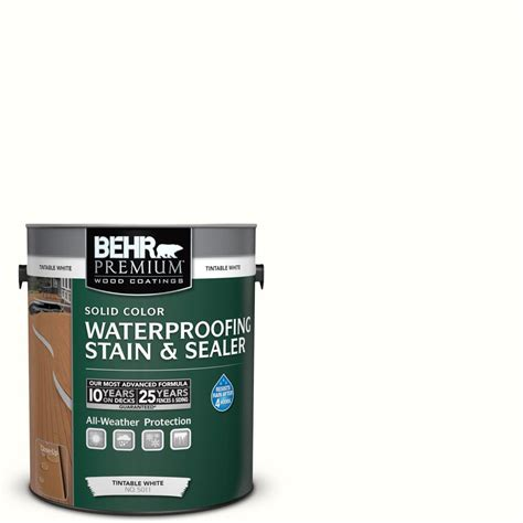 behr solid color waterproofing wood stain behr premium 1 gal sc 210 ultra white solid color