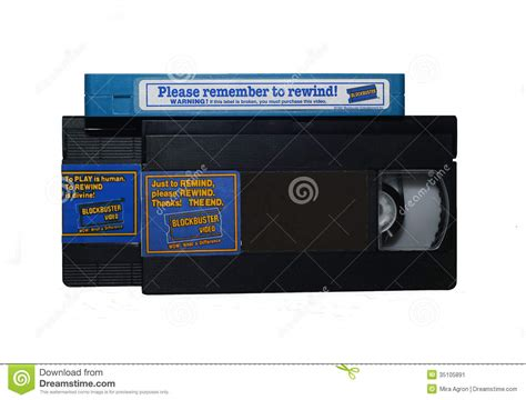 7 Audio Cassettes And 3 Video Cassettes by Blockbuster Video Cassettes Editorial Photo Image Of
