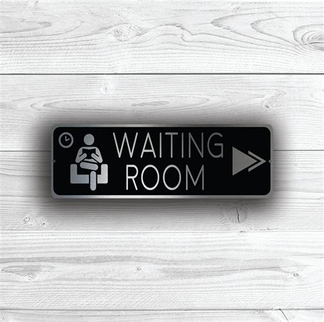 waiting room signs waiting room pointer sign