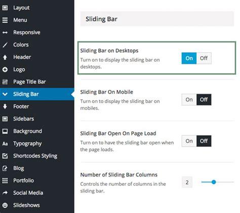 avada theme upload header setting up the sliding bar theme fusion