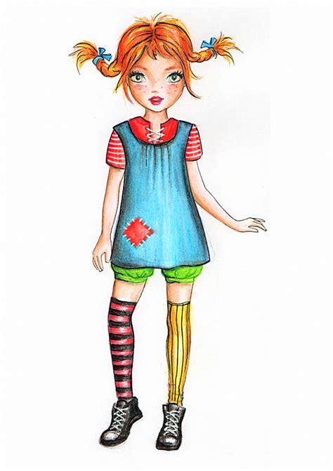 pippi longstocking dress template for card birthdays for