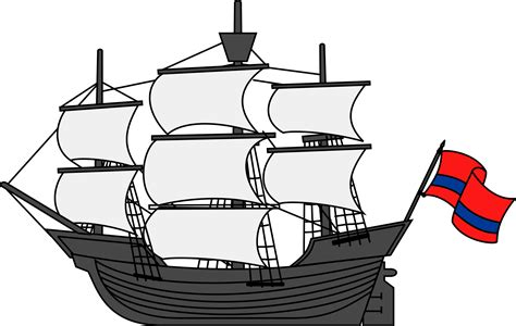 clipart image sailing ship clipart big boat pencil and in color