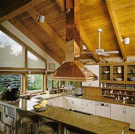 make an island range hood vented through vaulted ceiling