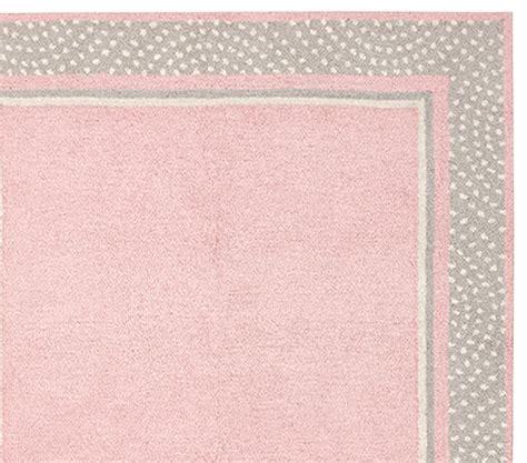 gray and pink rug polka dot border rug pink gray pottery barn