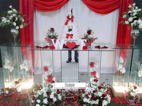 Monster High Home Decor by Decora 231 227 O De Casamento Vermelho E Branco Elizabete