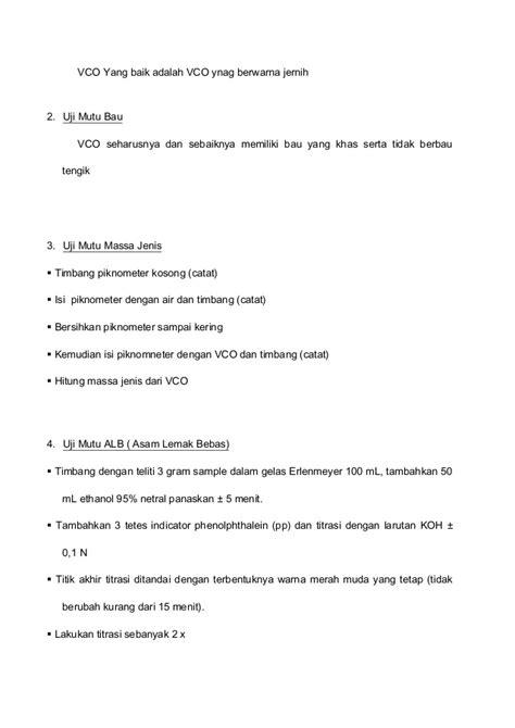 Vco Ekstrak Coconut 100ml Harmoni laporan pembuatandan analisa vco