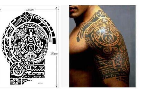 dwayne the rock johnson tattoo template free download wholsale 10pcs big temporary tattoo sticker tatuagem