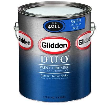 home depot paint no primer glidden 1 gal base 3 satin interior paint and primer