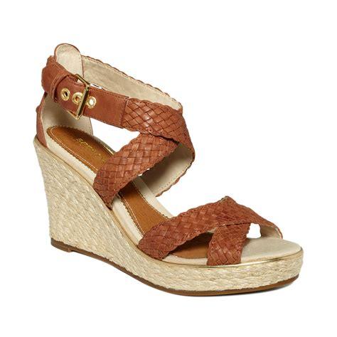 sperry wedge sandal sperry top sider harbordale platform wedge sandals in