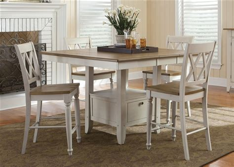 Counter High Dining Room Sets Al Fresco Gathering Table 5 Piece Counter Height Dining