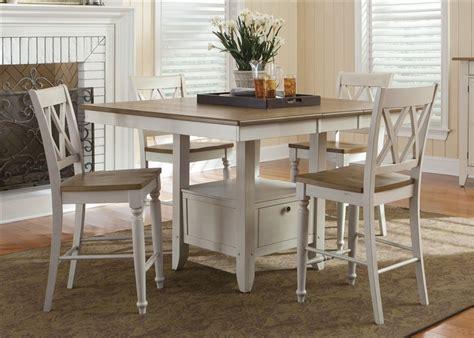white counter height table set al fresco gathering table 5 counter height dining