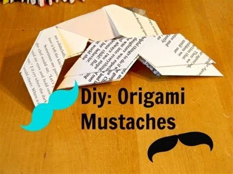 How To Make A Paper Moustache - diy tutorial how to make origami mustaches
