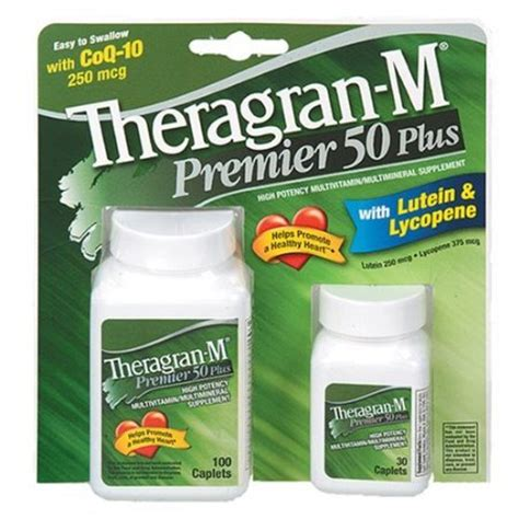 Vitamin Theragran M Multivitamin Multimineral Supplement With Lutein
