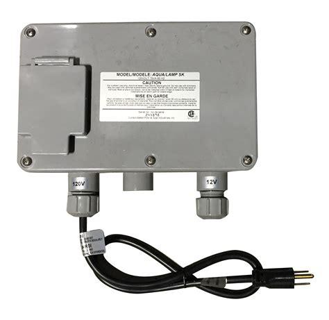 pool light transformer replacement aqual or rainbow rays single transformer box pool