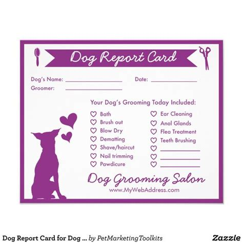 pet boarding report card template report card for groomers 4 5 quot x 5 6 quot flyer