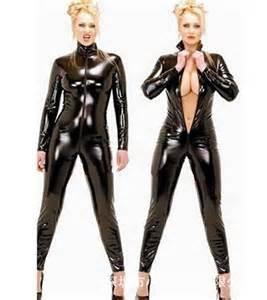 bodies women long sleeve short romper latex catsuit