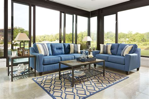 blue living room set forsan nuvella blue living room set 6690338 ashley