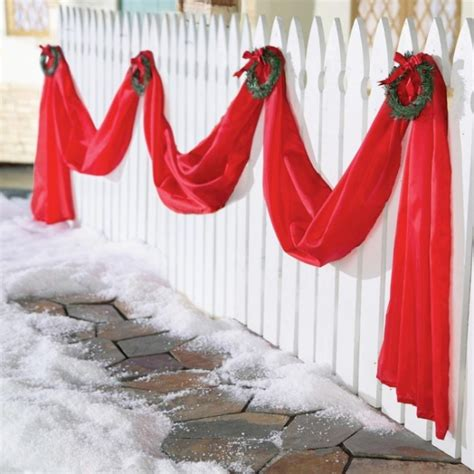 christmas fence garland decoration christmas