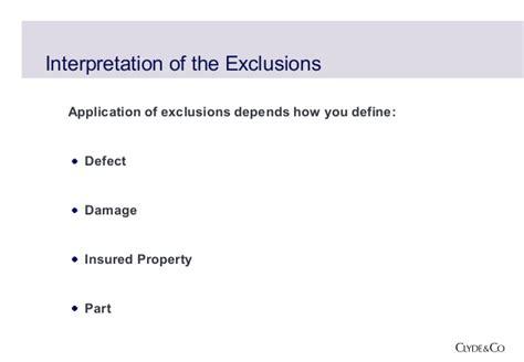 design fault definition defect exclusions