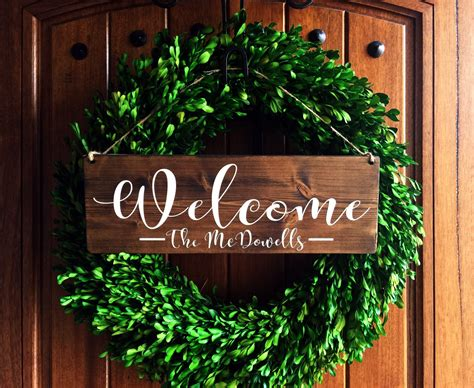 Welcome Signs For Door by Welcome Sign Welcome Door Sign Front Door Sign