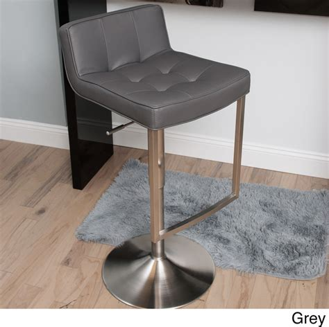 adjustable swivel bar stools with back looper tufted low back adjustable height swivel stool