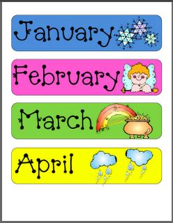 printable calendar classroom the gallery for gt printable months of the year labels