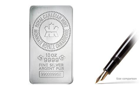 10 Oz Silver Bar Value Canada - silver bars toronto