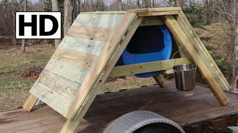 how to build a dog house youtube how to build an a frame sled dog house detailed construction youtube