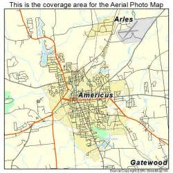 aerial photography map of americus ga