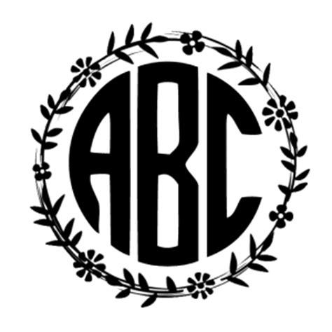 design free monogram online circle monogram font free create online with free