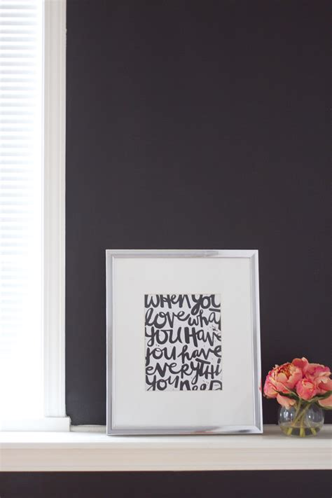 make the accent wall in your home office sophisticated