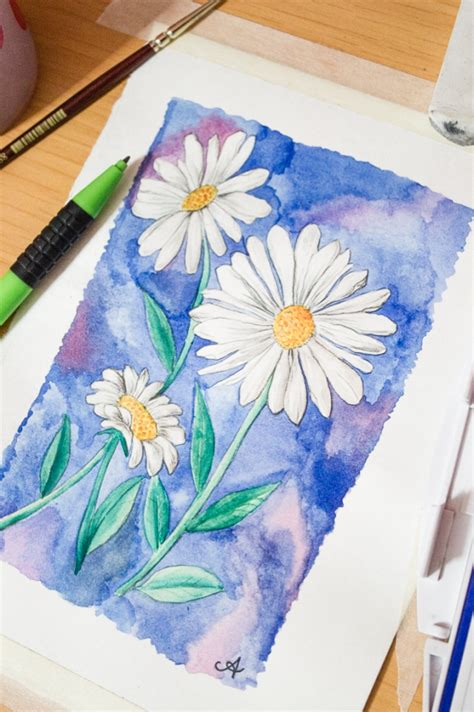Watercolour Gouache Surely Simple Drawings To Paint For