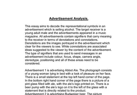 dissertation on advertising advertisement analysis a level media studies marked by