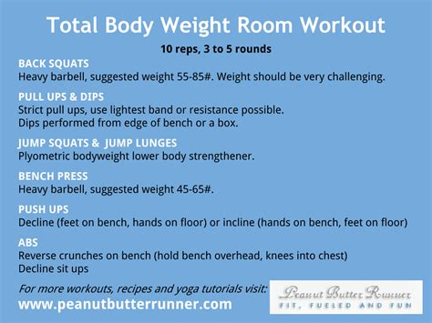 room exercises total weight room workout peanut butter runner
