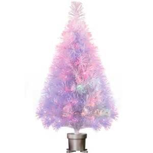holiday time pre lit 32 quot white fiber optic artificial