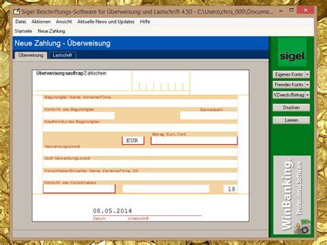 beschriftungs software f 252 r 220 berweisung und lastschrift chip