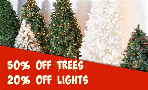 target 50 off christmas trees 20 off lights