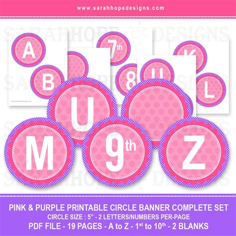 free printable birthday banner purple 8 best images of pink birthday banner printable free