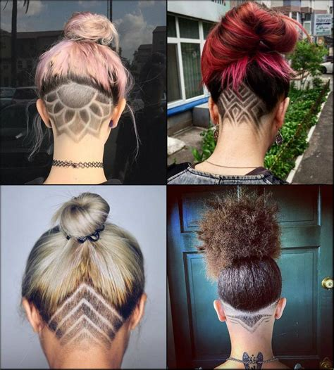 show the back of some modern womens medium length haircuts best 25 shaved head designs ideas on pinterest